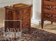 Comodino rettangolare in legno massello con cassetti VERDI | Comodino - Arvestyle