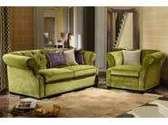 Tufted 3 seater fabric sofa BENJAMIN | Fabric sofa - Domingo Salotti