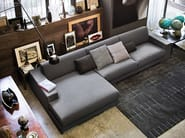 Divano in tessuto con chaise longue BEST | Divano con chaise longue - Arketipo