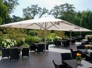 Giant patio umbrella Big Ben at Kempinski Hotel in Germany