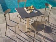 Square aluminium garden table BISTRÒ | Square table - Talenti