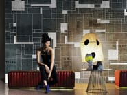 Motif geometric wallpaper BLACK BRICKS - Wall&decò