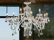 Direct light incandescent blown glass chandelier with crystals BOHEMIA VE 880 - Masiero
