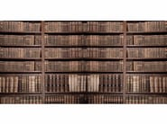 Washable trompe l'oeil nonwoven wallpaper BOOKCASE - CREATIVESPACE