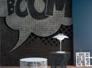 Panoramic pop art writing wallpaper BOOM BOOM - Inkiostro Bianco