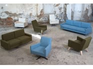 Swivel high-back armchair BOSTON HIGH | Swivel armchair - Domingo Salotti