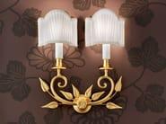 Direct light incandescent brass wall lamp BRASS & SPOTS VE 1070 - Masiero
