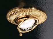 Semi-inset adjustable ceiling brass spotlight BRASS & SPOTS VE 854 - Masiero
