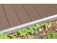 Composite material outdoor floor tiles with wood effect EXTERNO BROWN - Woodco