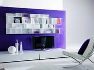 Modular floating MDF bookcase BYBLOS | Floating bookcase - Ozzio Italia