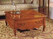 Square cherry wood coffee table CANALETTO | Low coffee table - Arvestyle