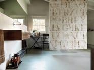 Panoramic writing wallpaper CAPITAL - Inkiostro Bianco