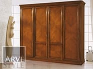 Solid wood wardrobe with sliding doors CAPRI | Wardrobe with sliding doors - Arvestyle