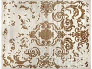 Patterned handmade rectangular rug CARDINAL FAUVE - EDITION BOUGAINVILLE