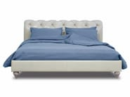 Upholstered leather double bed CASPER - BAXTER