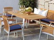 Extending rectangular teak garden table CENTRO | Extending table - FISCHER MÖBEL