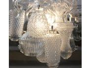 Direct light glass pendant lamp CERAUNAVOLTA - Karman