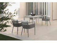 Garden chair with removable cover with armrests KIRA   Chair - Talenti