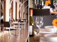 Restaurant chair with armrests SOFITEL | Chair with armrests - 7OCEANS DESIGNS