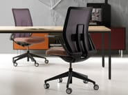 Height-adjustable task chair with 5-Spoke base with armrests CHANCE - Quinti Sedute