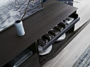 Suspended wood veneer sideboard CLASS | Suspended sideboard - Poliform