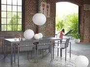 Extending rectangular ceramic garden table CLASSIC ALU | Extending table - solpuri