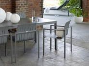 Tavolo da giardino rettangolare in ceramica CLASSIC ALU | Tavolo rettangolare - solpuri