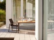 Tavolo da giardino rettangolare in teak CLASSIC ALU | Tavolo in teak - solpuri