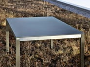 Rectangular ceramic garden table CLASSIC STAINLESS STEEL | Rectangular table - solpuri