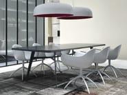 Rectangular wood veneer table CLIPPER | Table - Poliform