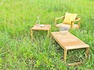 Rectangular teak garden side table BAKGARDEN | Coffee table - 7OCEANS DESIGNS