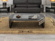 Low rectangular leather coffee table for living room TEXAS PLUS | Rectangular coffee table - Formitalia Group