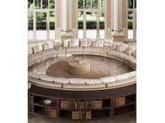 Tavolino basso rotondo in pelle da salotto SITTING A'ROUND | Tavolino - Formitalia Group