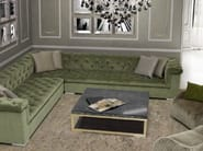 Low glass coffee table with storage space for living room ROMA | Coffee table - Formitalia Group