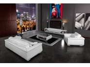 Low leather coffee table for living room BOOSTER | Coffee table - Tonino Lamborghini Casa