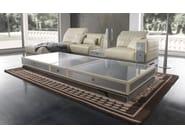 Low rectangular Alutex coffee table for living room MISANO | Coffee table - Tonino Lamborghini Casa