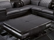 Low leather coffee table for living room BRISBANE QUILT | Coffee table - Tonino Lamborghini Casa by Formitalia Group