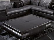 Tavolino basso in pelle da salotto BRISBANE QUILT | Tavolino - Tonino Lamborghini Casa