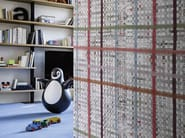 Motif wallpaper with textile effect COLLAGE - Wall&decò