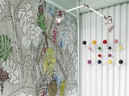 Wallpaper with floral pattern COLOR CHAIN - Wall&decò