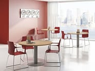 Round melamine-faced chipboard contract table COMPACT C11S/Z/C - Arcadia Componibili - Gruppo Penta