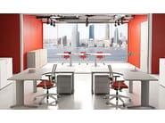L-shaped melamine-faced chipboard workstation desk COMPACT C1616DXZ - Arcadia Componibili - Gruppo Penta