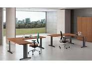 L-shaped melamine-faced chipboard workstation desk COMPACT | L-shaped office desk - Arcadia Componibili - Gruppo Penta