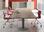 Rectangular melamine-faced chipboard meeting table COMPACT | Meeting table - Arcadia Componibili - Gruppo Penta