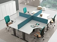 Multiple office workstation for open space COMPACT | Office workstation - Arcadia Componibili - Gruppo Penta