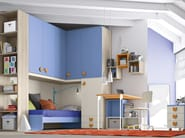 Bedroom set with bridge wardrobe COMPOSITION 16 - Mottes Mobili