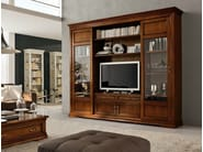 Solid wood TV wall system CONTESSA | Storage wall - Devina Nais