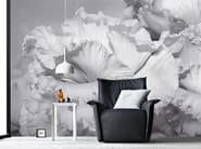 Carta da parati panoramica con motivi floreali COROLLE - Inkiostro Bianco