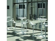 Height-adjustable stool with footrest COSMO | Height-adjustable stool - Quadrifoglio Sistemi d'Arredo