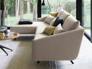 Fabric sofa with chaise longue COSTURA | Sofa with chaise longue - STUA